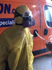 hazmat-suit-water-damage-restoration-van