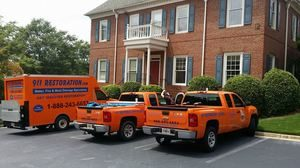 Mold Removal Fleet At A Job Site